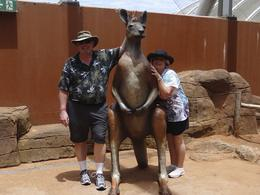 Carl and Karen meeting a new friend at the Wildlife park. , Husker1k - February 2012