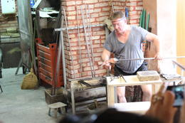 This glass blowing artist is creating a horse , SusanStar88 - September 2013