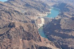 view of Lake Mead from the helicopter , Gail O - August 2015