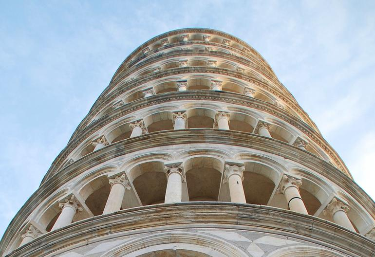 Leaning Tower from the Bottom Up - Florence