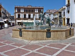 Beautiful plaza in the middle of Ronda with a fountain that has Hercules and Two Lions...symbols of Andalucia. The building behind the fountain is where the Andalucian Flag was raised in 1918. The ... , Lizette G - August 2015