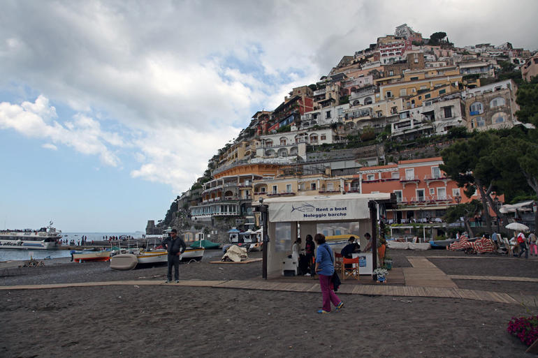 Positano from Shoreline - Naples