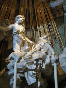 Ecstasy of Saint Teresa at Santa Maria della Vittoria- seen on the Angels and Demons Tour in Rome. , Kristi M - July 2012