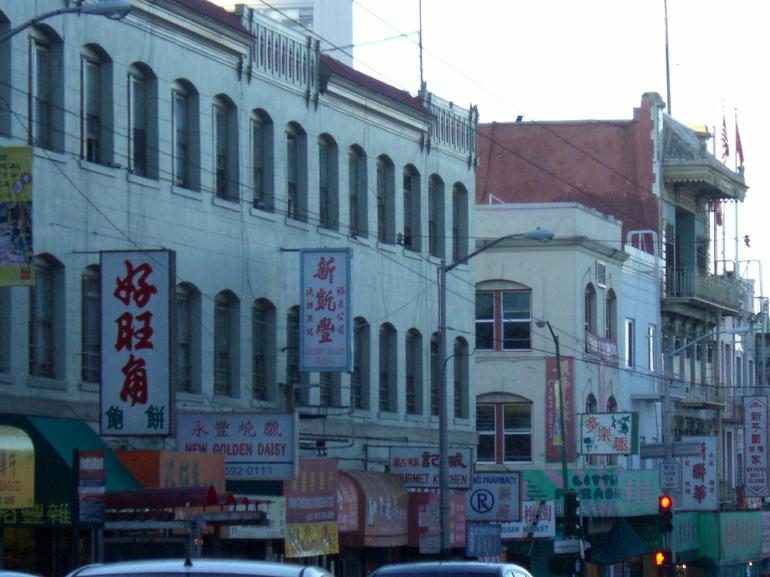 Row of buildings and signs in Chinatown, San Francisco - San Francisco