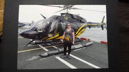 Me outside the helicopter before take off , Kimbosquest - July 2014