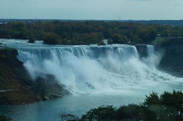 The falls fron the Canadian side , froggy - November 2013