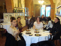 Photo of Florence Chianti Region Wine Tasting Half-Day Trip from Florence Wine tasting with tasty snacks.