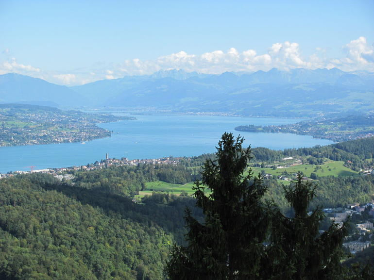 Zurich from the mountain via cable car - Zurich