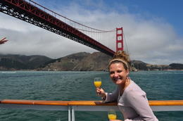 Photo of San Francisco San Francisco Champagne Brunch Cruise Beautiful view of the Golden Gate Bridge