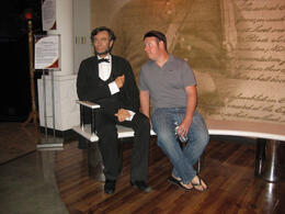 Photo of Las Vegas Madame Tussauds Las Vegas Chilling with Abe..