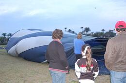 My brother, son & daughter, waiting for the balloon to heat up & inflate...., Michael B - March 2010