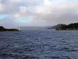 Photo of Tasmania Gordon River Cruise from Strahan Hells Gates from the ocean side