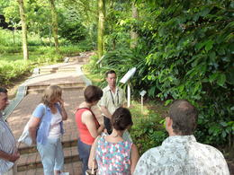 Tour guide explaining the various spice plants , William G - November 2013