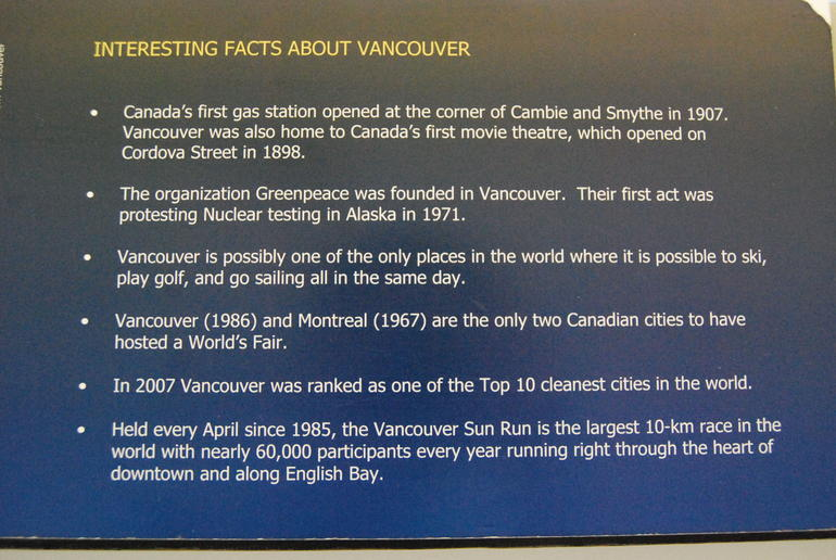 Interesting facts about Vancouver - Vancouver