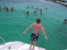 Photo of Riviera Maya & the Yucatan Riviera Maya Catamaran Adventure Jumping off the Boat