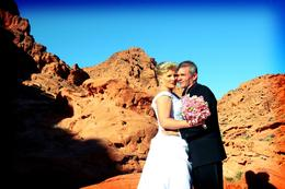 Photo of Las Vegas Valley of Fire Wedding by Private Limousine Mr. and Mrs. Baker