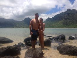My husband and I on the island after doing some snorkeling. , Eric C - August 2014
