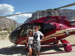 Berni and Terry when we had landed on the canyon floor for a lovely lunch. , Bernice G - October 2012
