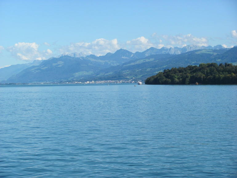Zurich from the lake ferry boat ride - Zurich