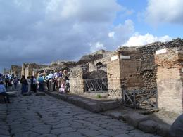 The clouds overhead set an ominous tone for our visit in Pompeii., Darci W - October 2010