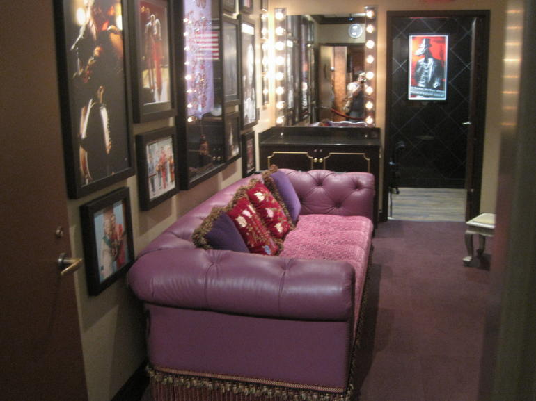 Funky dressing room at the Opry - Nashville