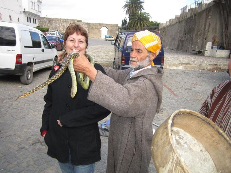 Meeting new friends in the Kasbah - Malaga