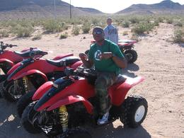 Photo of Las Vegas Hidden Valley and Primm ATV Tour Mike Chucking Up The Duece!