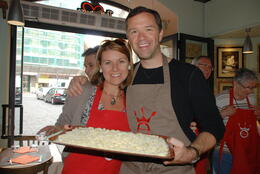 Photo of Rome Rome Walking Tour and Cooking Class My husband and I making pasta