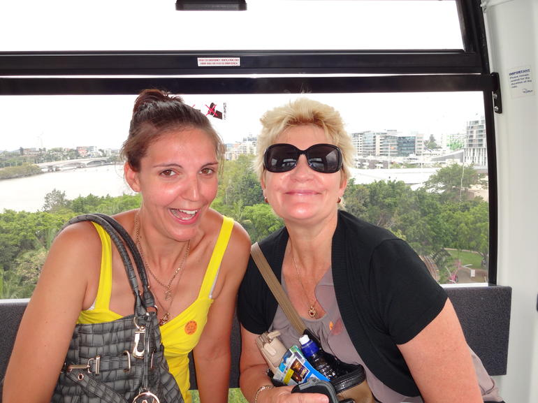On the Big Wheel at Southbank - Brisbane