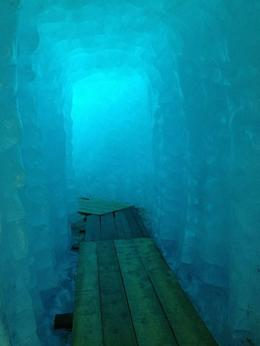 Photo from inside the glacier , Rebecca M - September 2013
