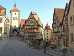 The classic view of Rothenburg - the hotel was just through the upper tower , Kevin F - August 2013