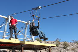Photo of Las Vegas Bootleg Canyon Zipline Tour Zipping down the line...