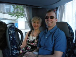 In the tour bus with very comfortable seats and air conditioning. , Thomas E - June 2011