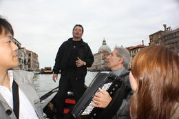 The singer, accordion player and the couple who shared the Gondola with us. , Christopher P - May 2013