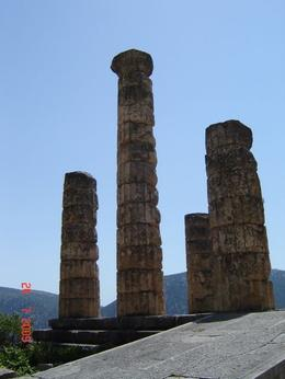 These are the columns of the Temple of Apollo, Olivia Z - August 2009