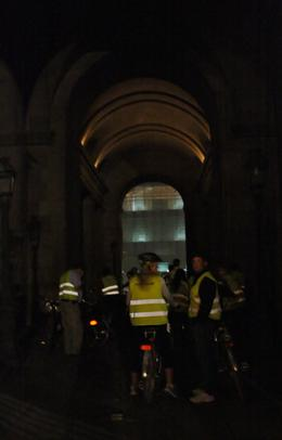 Photo of Paris Paris Night Bike Tour entering the Louvre