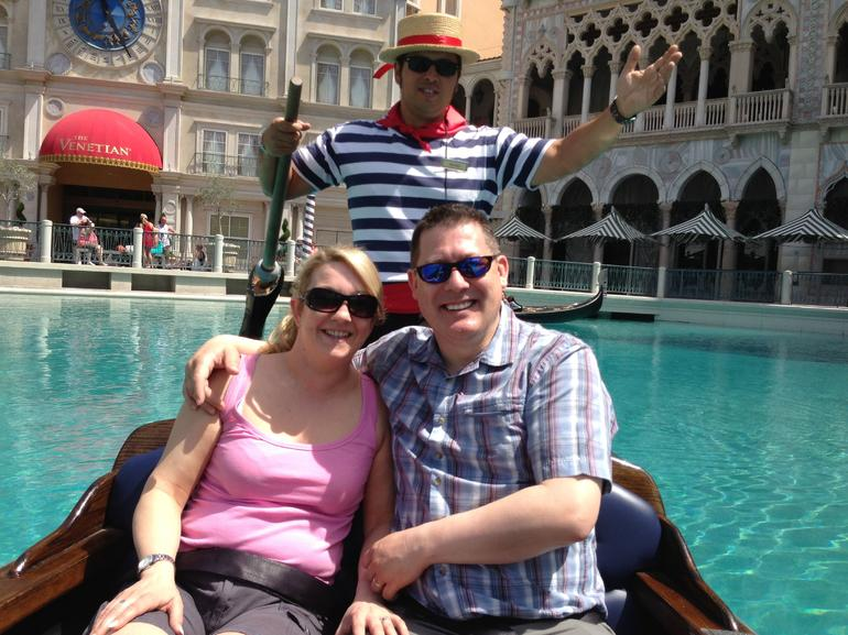 Gondola ride at the Venetian -