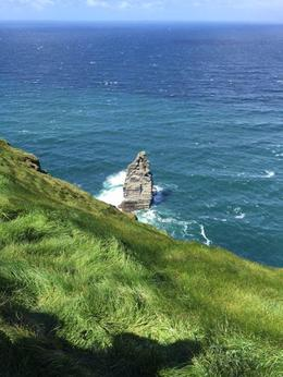Photo standing on the edge of the Cliffs of Moher and not visible from the walking path. , Mary M - June 2015