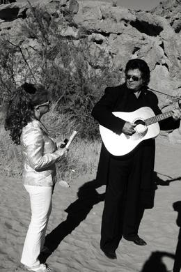 Photo of Las Vegas Valley of Fire Wedding by Private Limousine Johnny and June Cash Impersonators