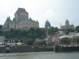 Chateau Frontenac from the St. Lawrence River , Michole G - July 2012