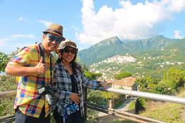 Photo of Rome Pompeii and Amalfi Coast Small Group Day Trip from Rome My wife and I on way to Amalfi