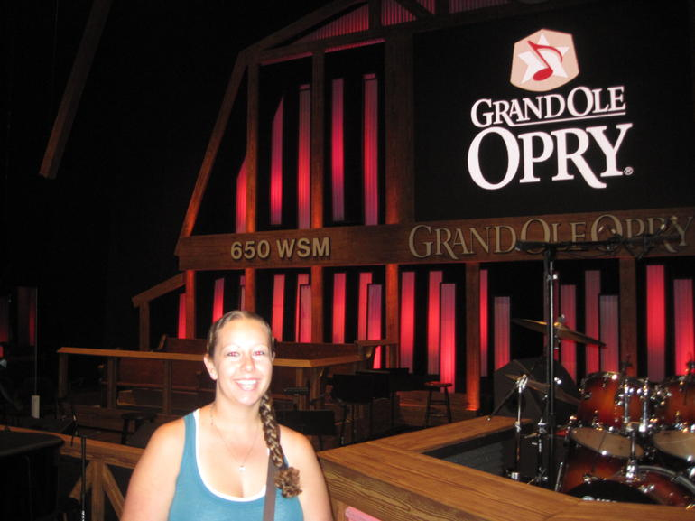 On stage at the Opry - Nashville