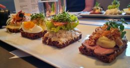 These were part of the lunch stop, where we tried 4 different open-faced sandwiches. , Pete C - November 2015