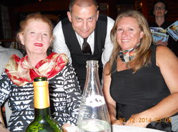 My sister and daughter with our very helpful and pleasant waiter , Barbara J B - June 2014
