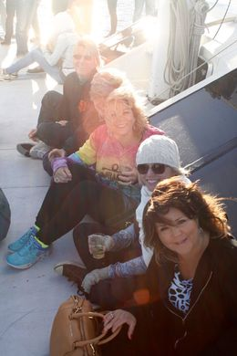 Enjoying a beautiful evening sailing with my sisters! , Nadine P C - August 2015