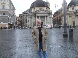 Beginning of tour - in the square of Santa Maria del Popolo, Elaine C - November 2010