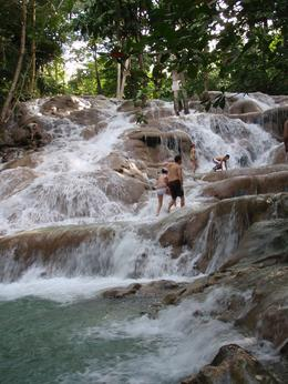 Photo of Montego Bay Dunns River Falls and Ocho Rios Shopping Tour This is what we climbed up