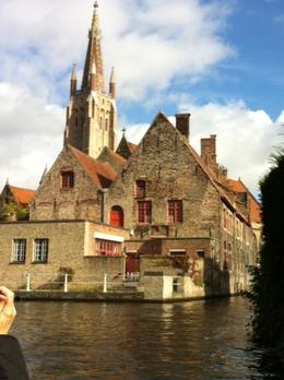 from the boat on the canal tour in Bruges , Julie M - November 2013