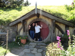 Part of the tour includes being able to take your picture in the doorway of one of the many picturesque Hobbit Homes used on the set of The Hobbit. I wish I could tell you that the interior ... , Bernie - February 2013