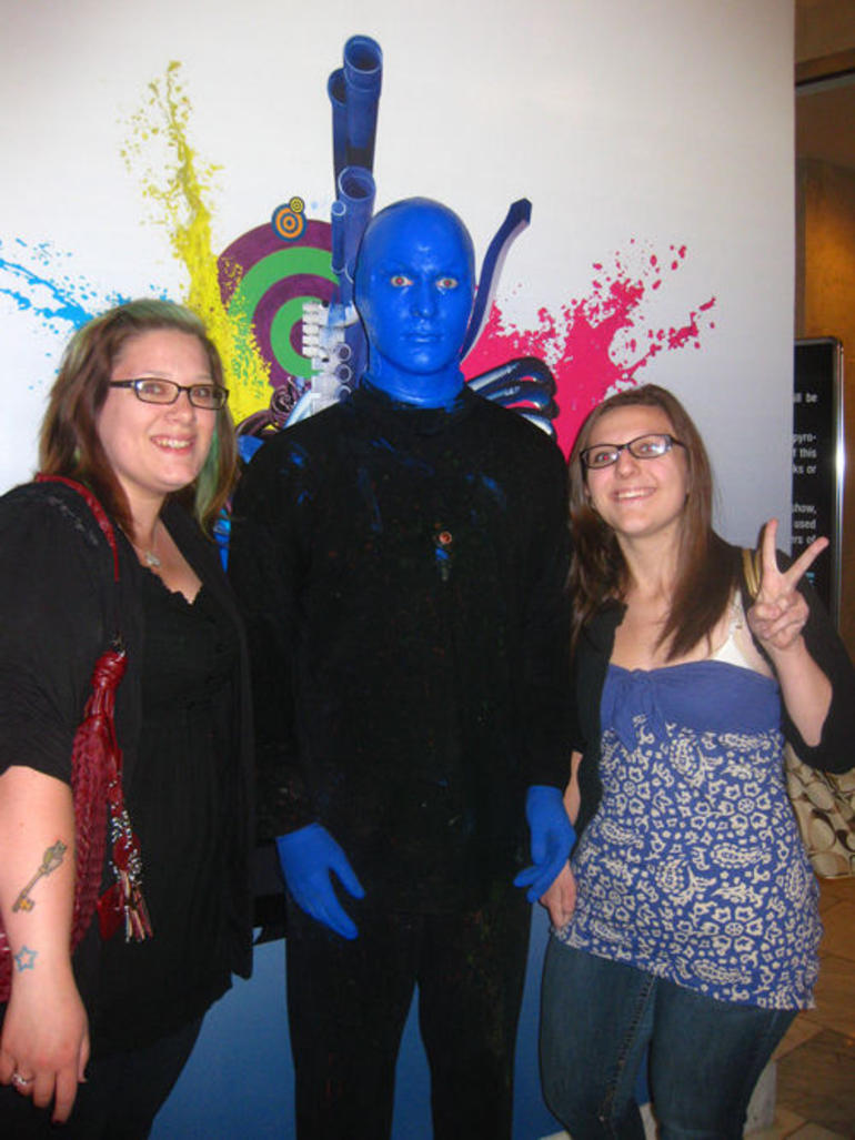 With Blue Man Group - Las Vegas